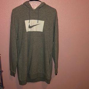 Nike ladies sportswear swoosh gray hoodie dress.